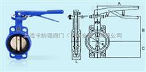 台湾荣牌铸铁手柄蝶阀