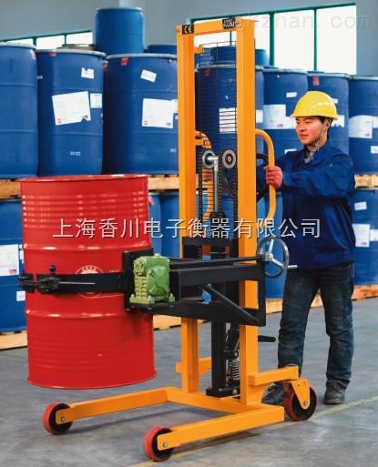 上海油桶堆高车/油桶搬运秤价格