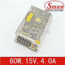 Smun/西盟单组输出60w15v开关电源