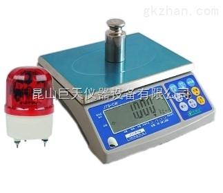 郑州量程3公斤报警秤称,三色灯报警称量程3公斤
