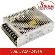 Smun/西盟D-30B双组输出开关电源30w5v、24v