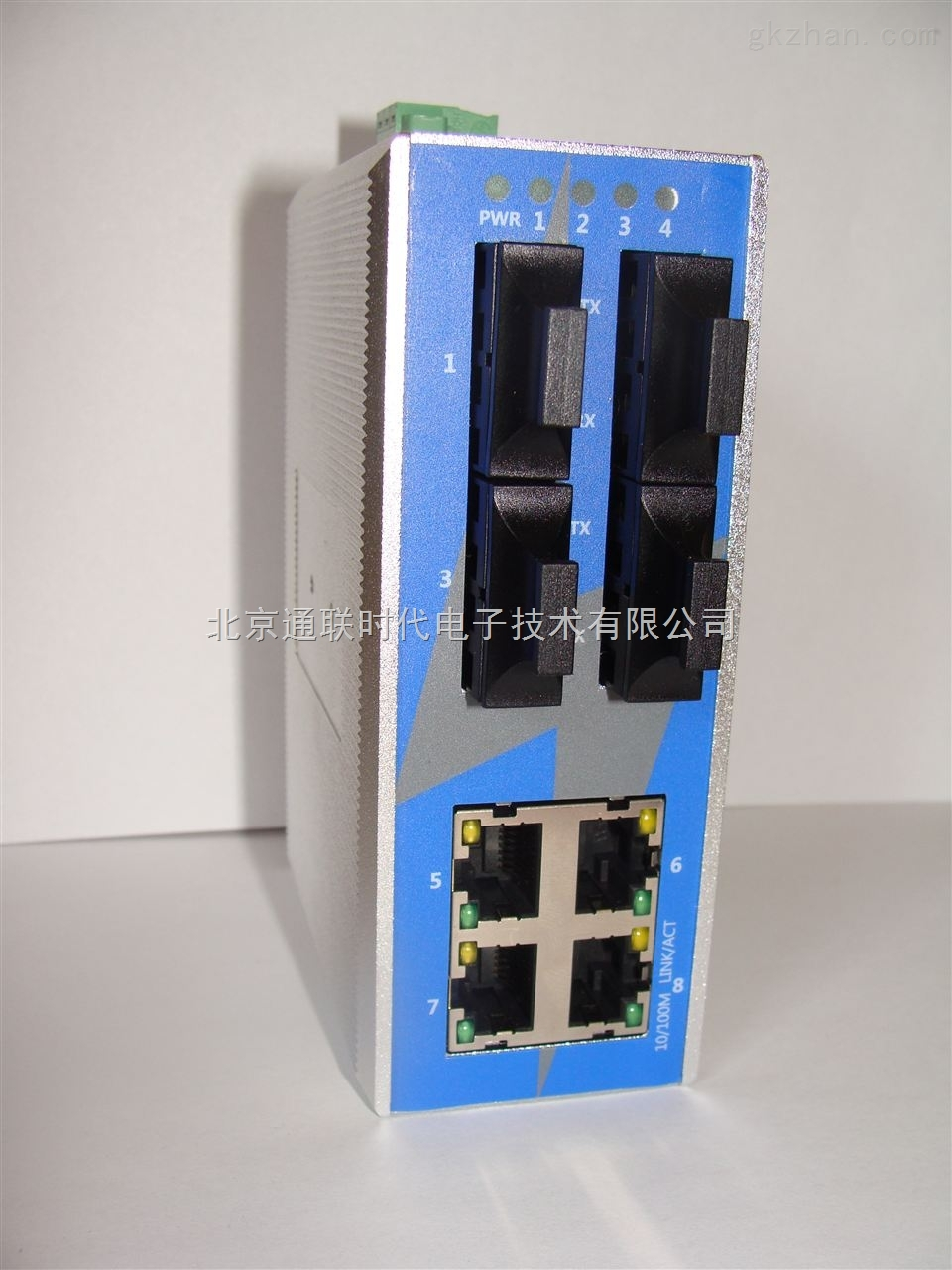 四光口+四电口宽温型工业交换机