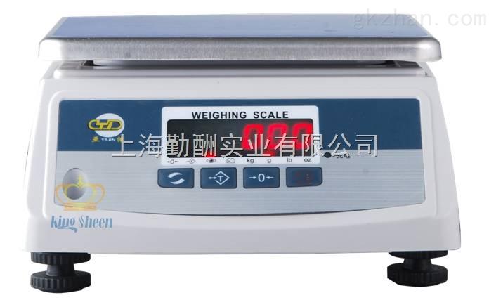 上海15kg防水食品电子桌秤 英展电子秤/案秤