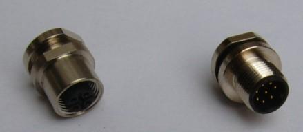 M12圆法兰插座