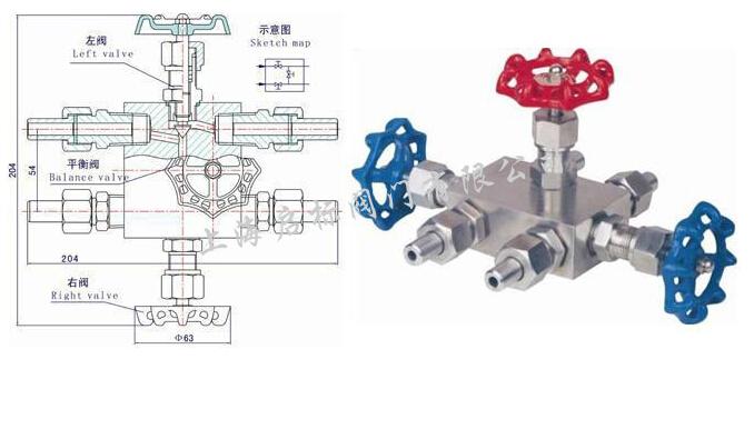 五、技术参数: 1、公称通径:DN5~DN6 2、工作压力:PN2.5 PN4.0 PN6.4 PN16 PN32Mpa 3、适用温度:-29~+540 4、连接形式:对焊式管接头 5、阀体材料:碳钢(A105,20#,35#);不锈钢(304,304L,316,316L,321) 6、适用介质:油、水、气等多种非腐蚀或腐蚀性介质 上海启标阀门有限公司代理进口阀门品牌:日本北泽阀门(KITZ),日本阀天阀门(VENN),欢迎来电咨询,订购。